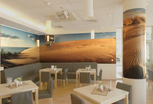 Padarytas viešbučio kavinės fotointerjeras